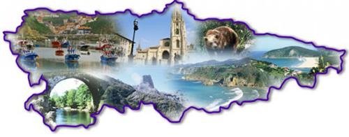 Mapa del Principado de Asturias