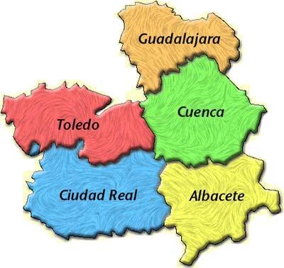 Mapa de Castilla La Mancha
