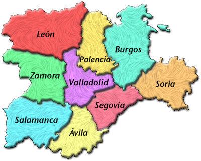 Mapa de Castilla y León