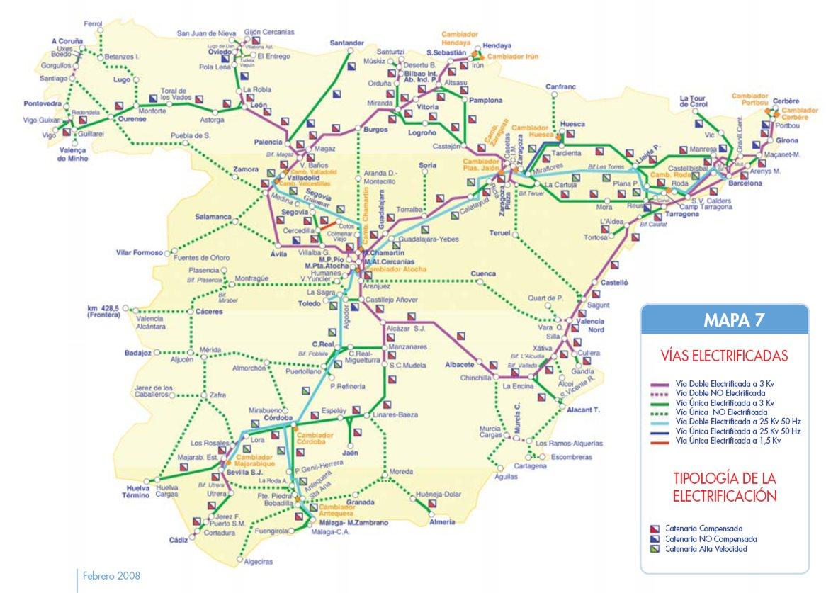 Mapa Ferroviario de España
