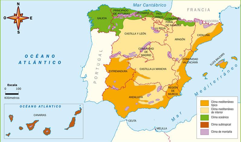 Mapa del Clima de España
