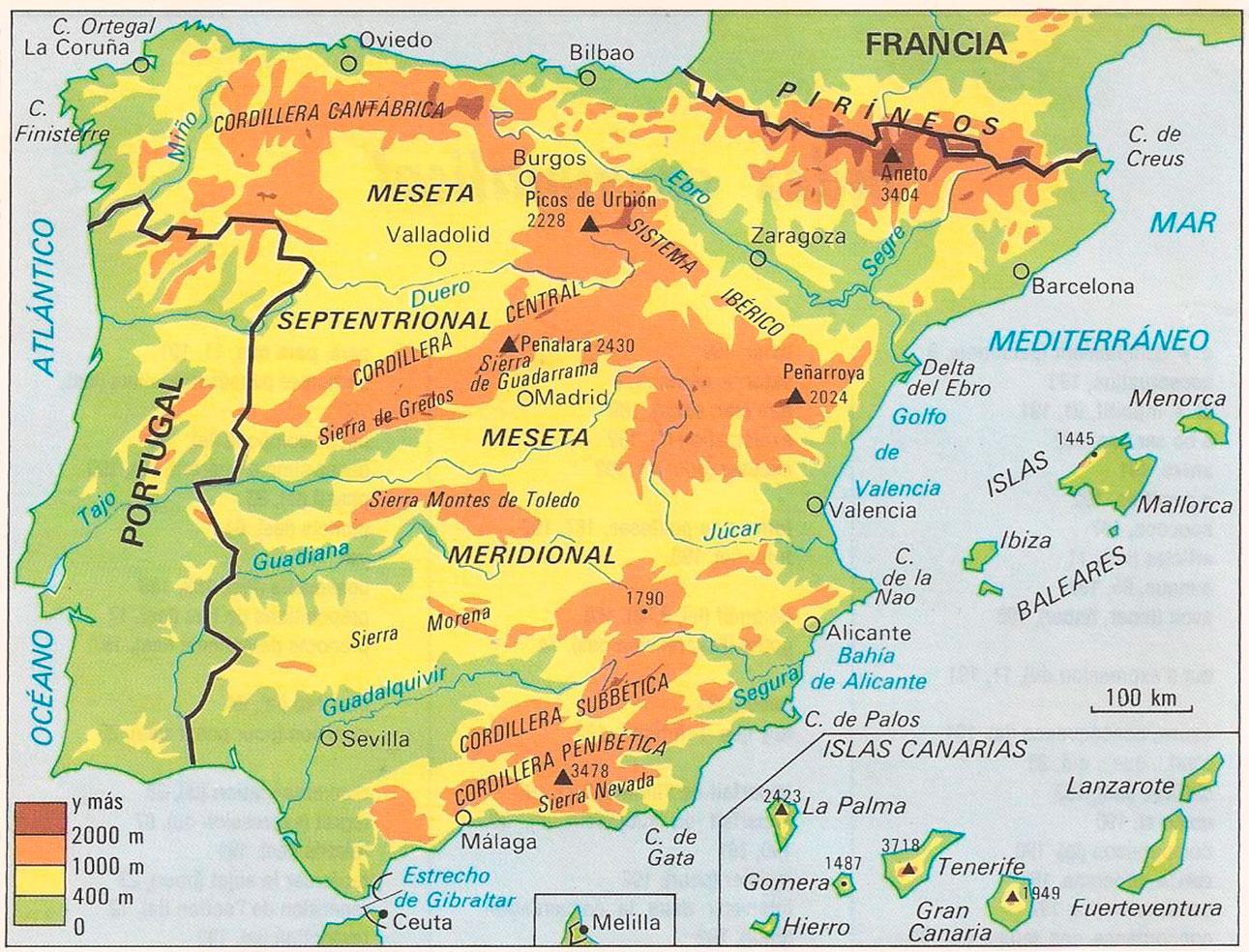 Www Mapa De Espana.Mapas De Espana Mapas Interactivos De Espana