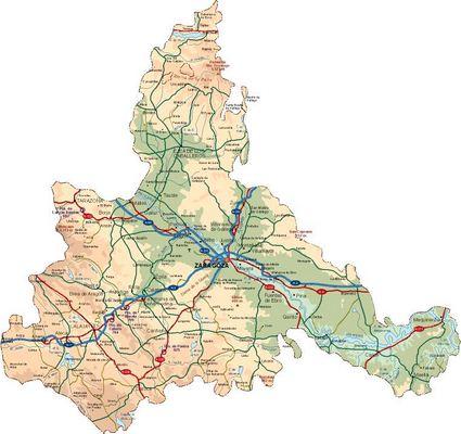 Mapa Físico de Zaragoza (Plano de Zaragoza)