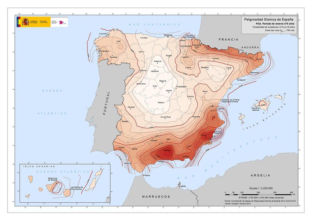 Mapa de la Peligrosidad Sísmica de España
