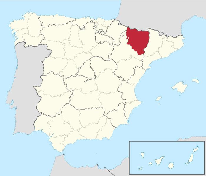 Provincia de Huesca en España