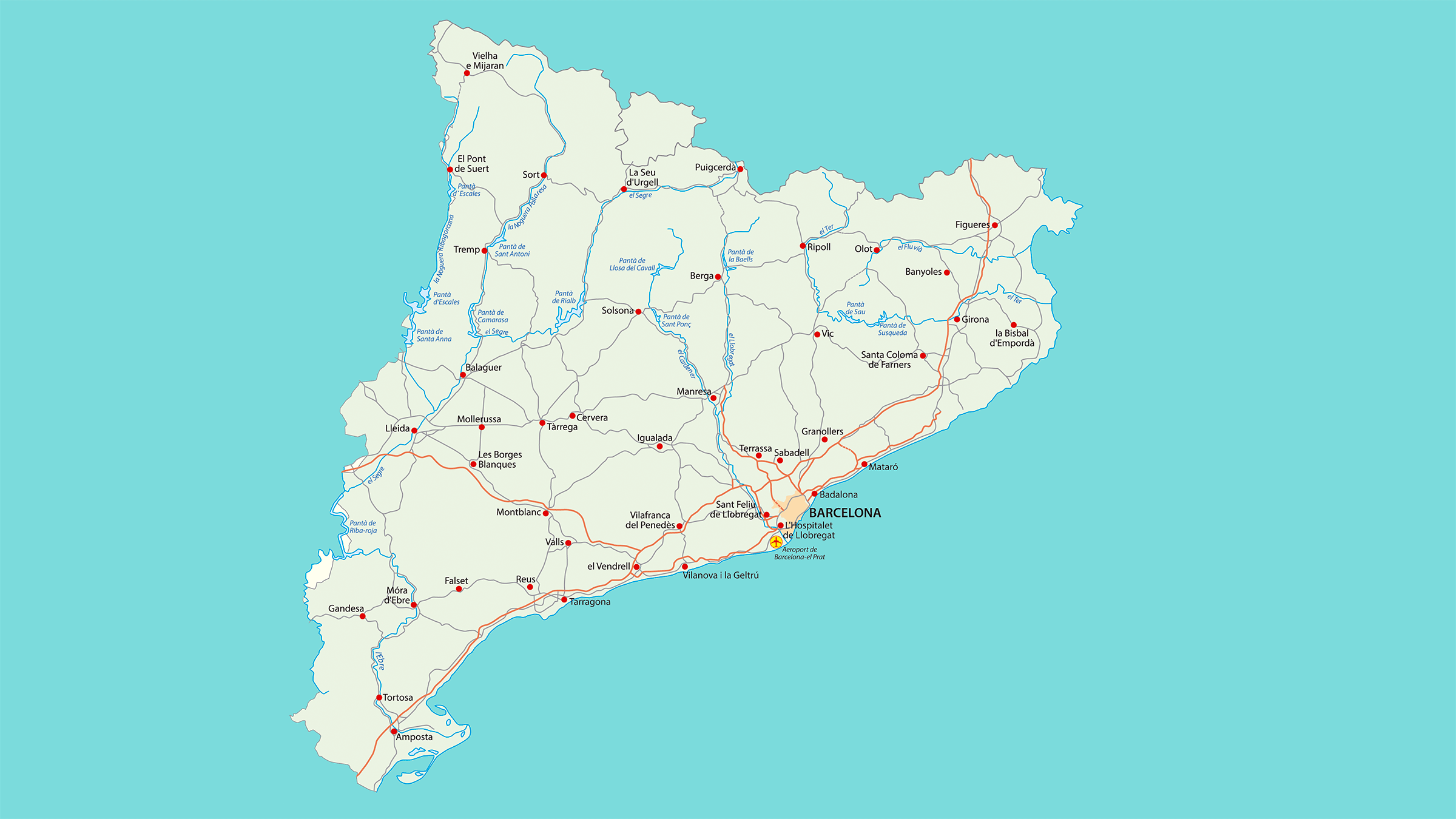 Mapa de Carreteras de Catalunya