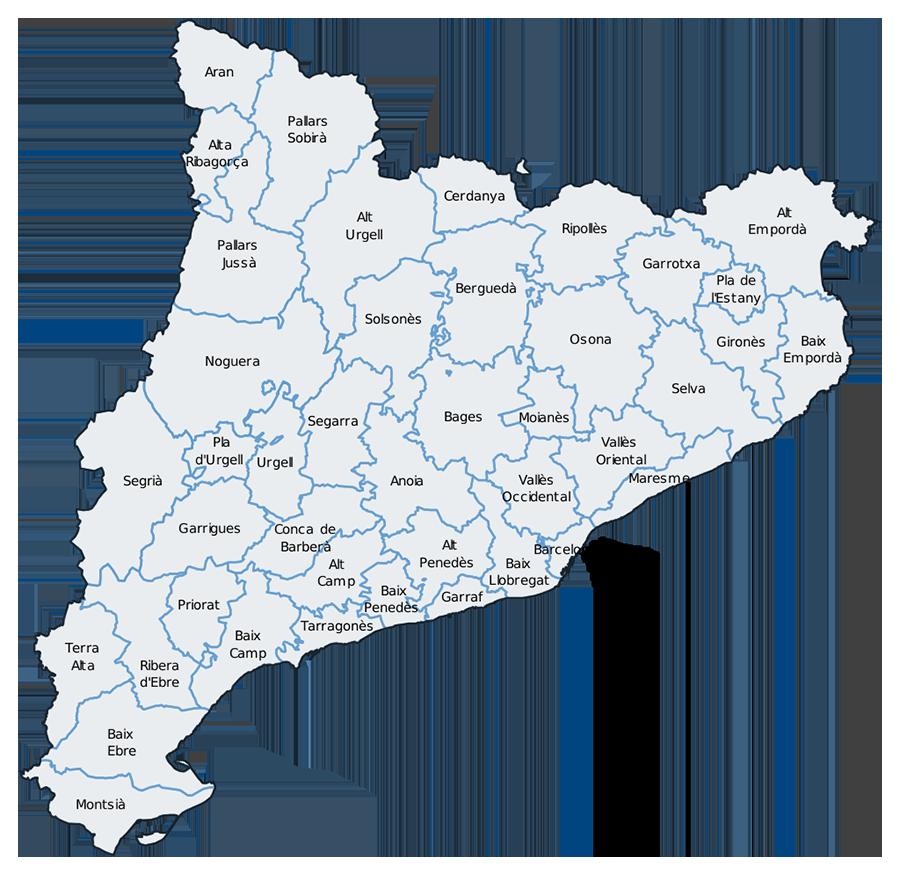 Mapa Político de Catalunya