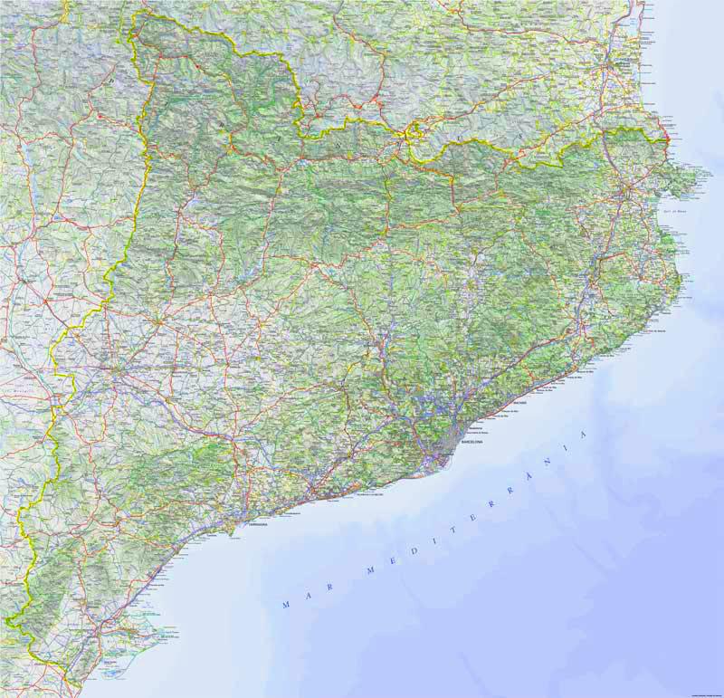 Mapa Topográfico de Catalunya