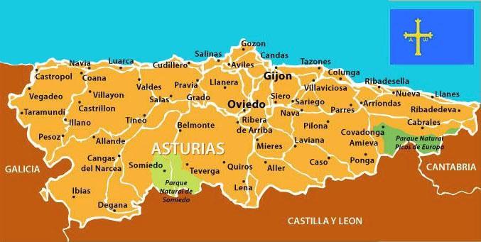 Mapa Político de Asturias