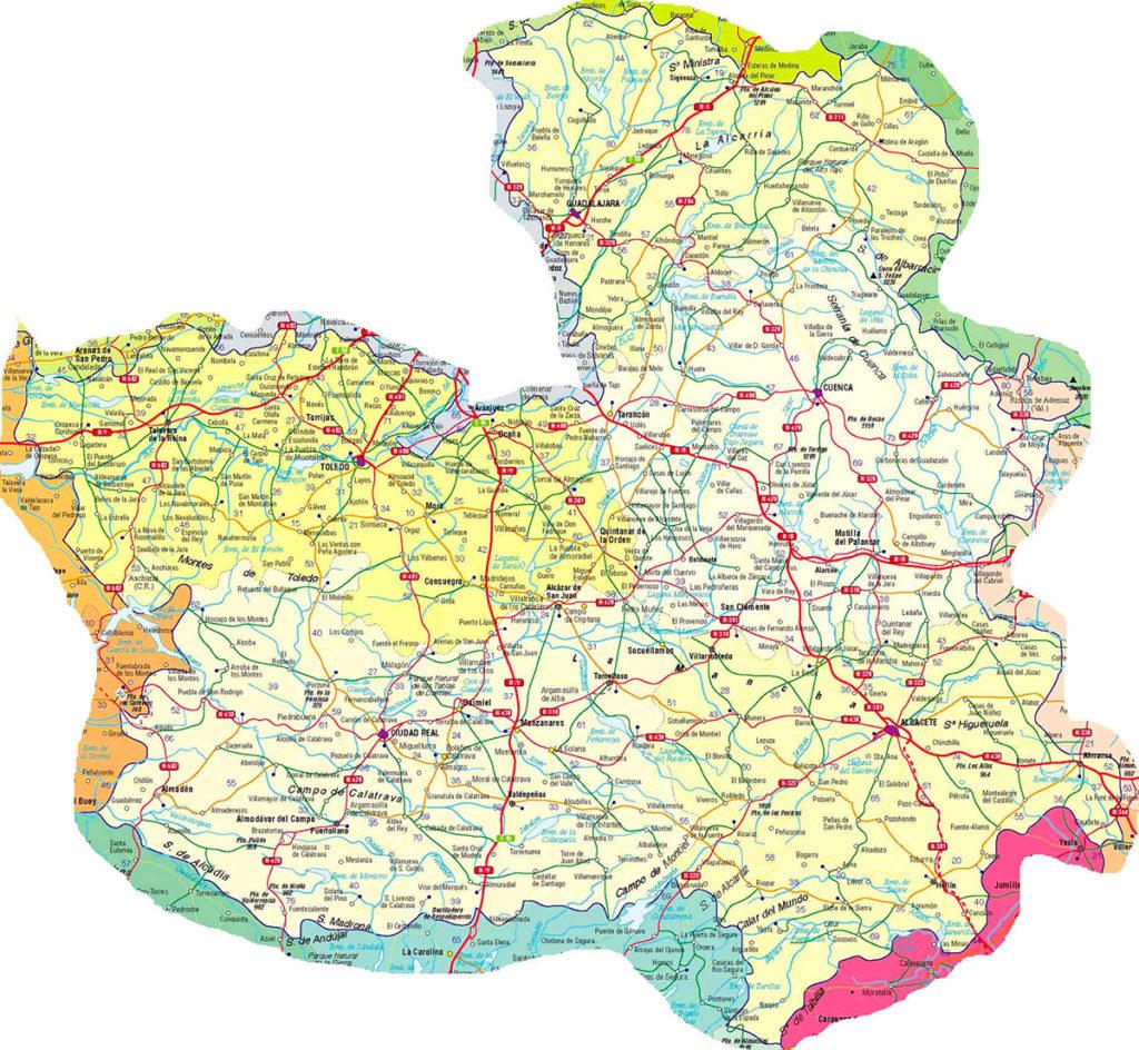 Mapa de Carreteras de Castilla la Mancha