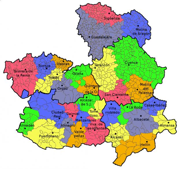 Mapa Político de Castilla la Mancha