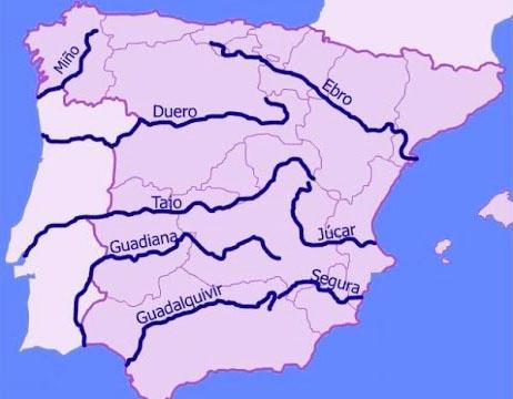 Mapa de Ríos de Castilla la Mancha