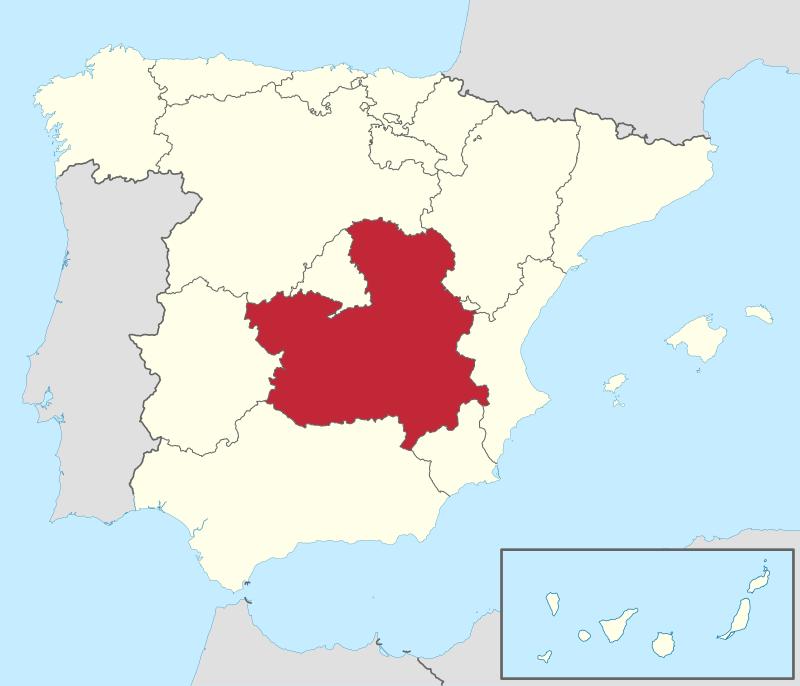 Ubicación de Castilla la Mancha