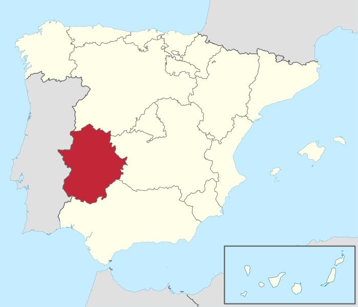 Ubicación Geográfica de la Comunidad Autónoma de Extremadura